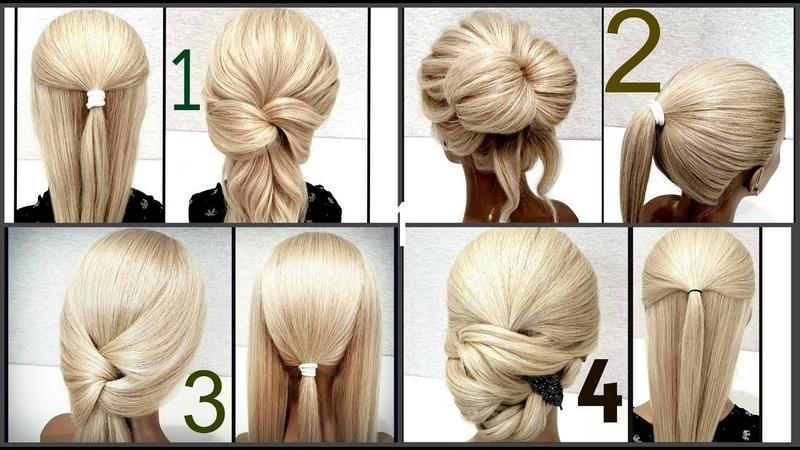 Топ 5 Самых быстрых причесок для самой себя. Top 5 Fastest Hairstyles for Yourself