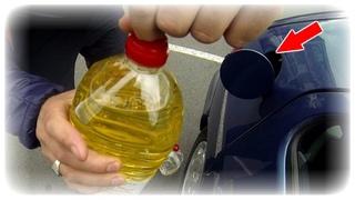 Ушлые Водители Хранят это в Секрете   Зачем в Бензиновый бак Авто нужно лить Керосин?! АвтоХак
