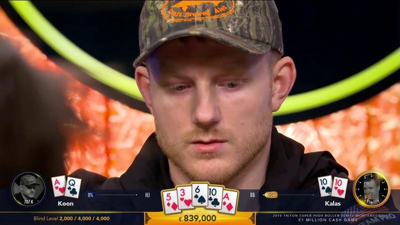 $2m Cash Game Pot! Koon vs Kalas at Triton Million Euro Cash Game