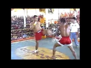 Brutal (Burma) Muay Thai fight no gloves knockout  มวยไทย