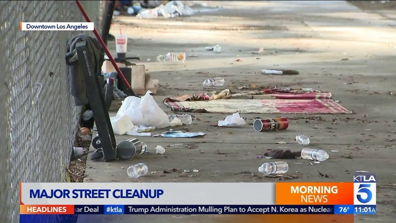 Downtown L A Residents Slam Latest Homeless Encampment Cleanup