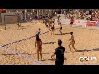 Murcia vs Cataluña beach handball