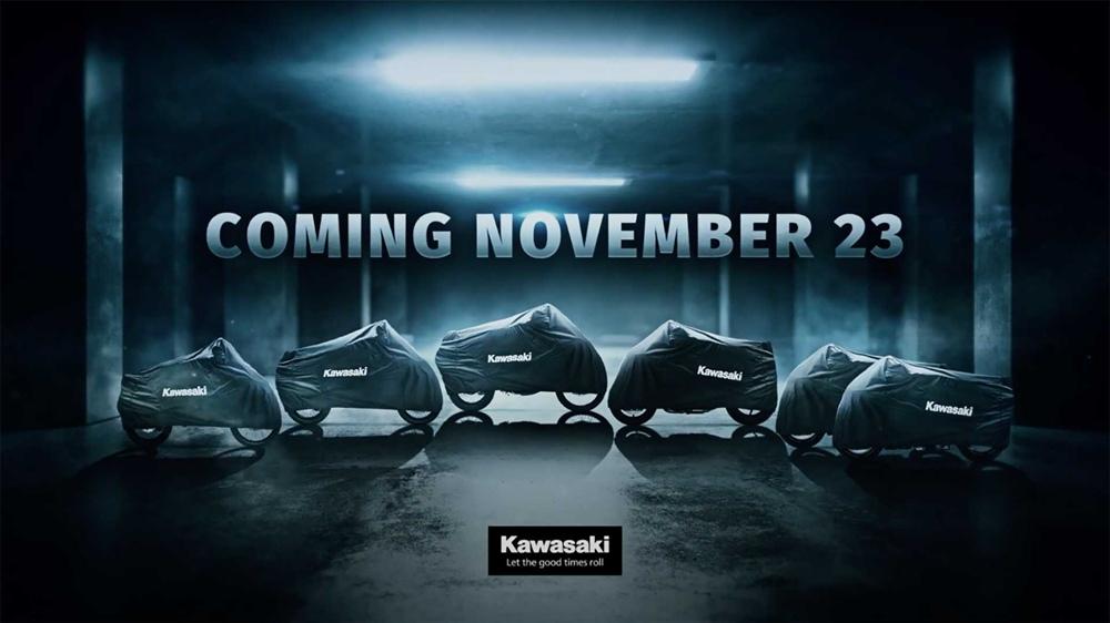 Kawasaki представят шесть новых моделей 23 ноябяр (тизер)