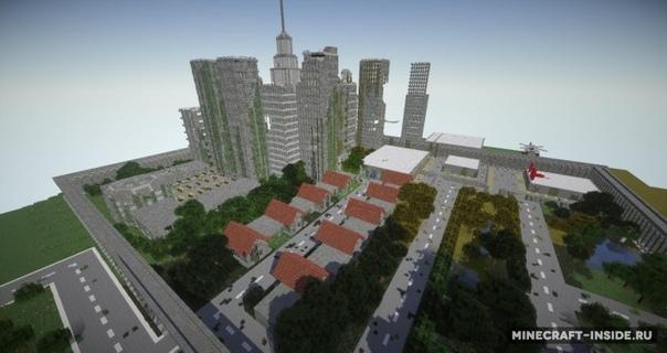 cкачать карту для майнкрафт 183 сомби город #6