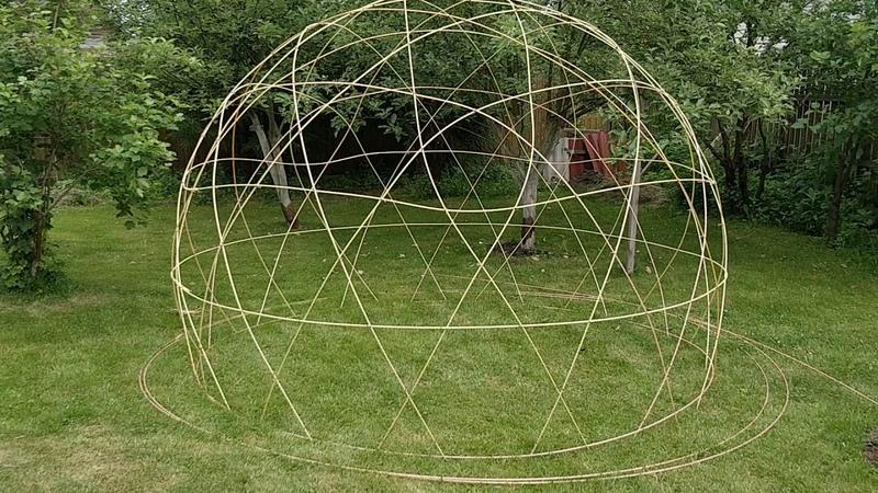 Купол из композитной арматуры Dome of glass FRP rebar