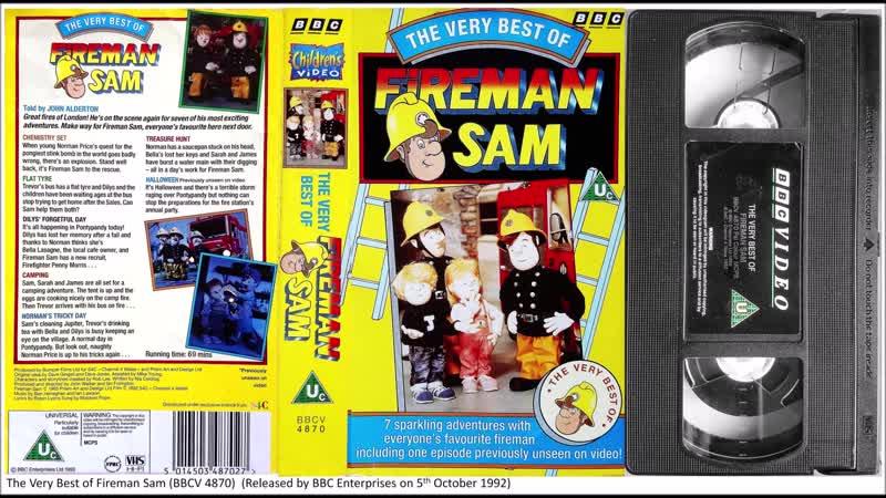 The Very Best of Fireman Sam BBCV 4870 1992 UK VHS Remastered