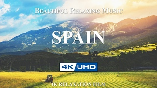 SPAIN 4K UHD   Drone Footage with Beautiful Piano Music   Meditation Vibes