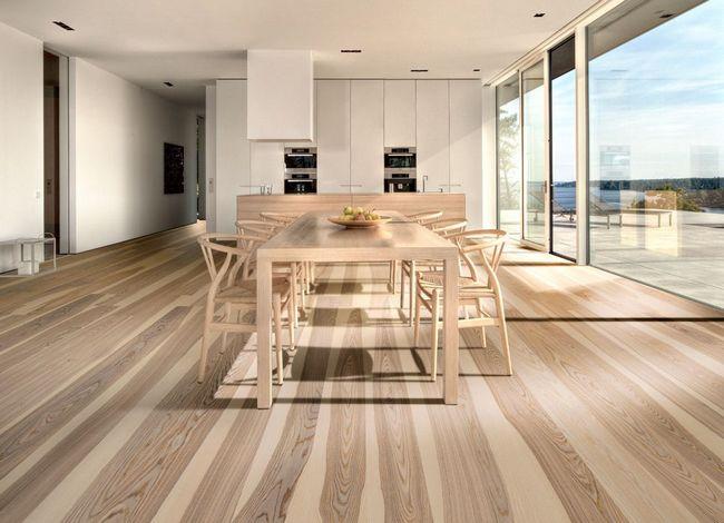 Деревянный пол для кухни