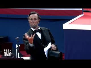 Abe Lincoln at South Dakota's 2020 Mount Rushmore Fireworks Celebration