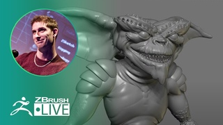 ZBrush 2020 - 3D Model an 80's Gremlin - Pixologic Paul Gaboury - Did You Know That? LIVE - Part 5