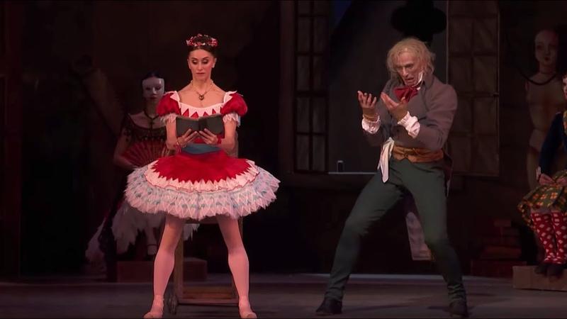 Coppélia Act II Swanilda pretends to be Coppélia Marianela Nuñez Gary Avis The Royal Ballet