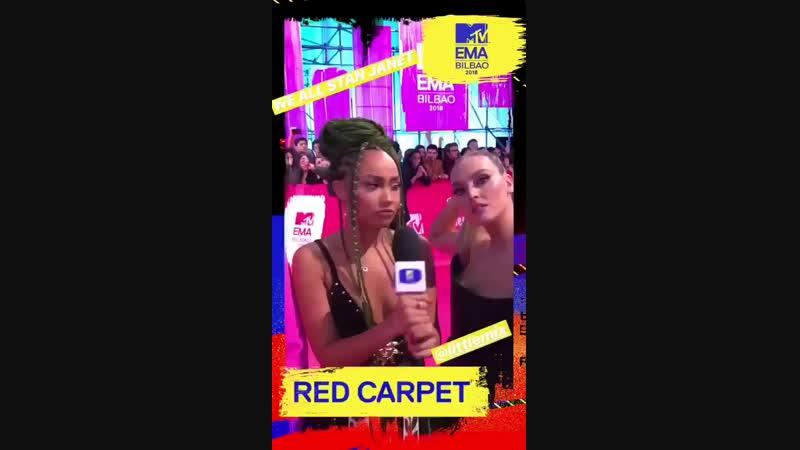Las chicas hablando de Janet Jackson! MTVEMA LittleMixAtEMAs