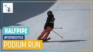 Brita Sigourney   3rd place   Women's Halfpipe   Aspen   FIS Freestyle Skiing