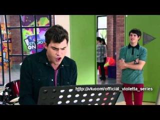 """Виолетта 3 сезон 32 серия - Диего поёт песню """"Ser Quien Soy"""""""