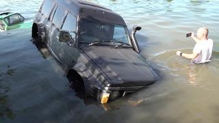 Утопили Nissan Safari и Запорожец