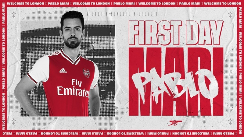 Pablo Mari's first day at Arsenal training centre Behind the scenes