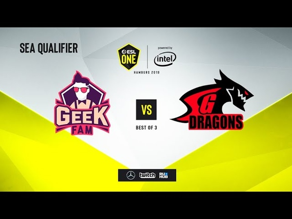 Geek Fam vs SG Dragons, ESL One Hamburg 2019 QL, bo3, game 2 [mortalles]