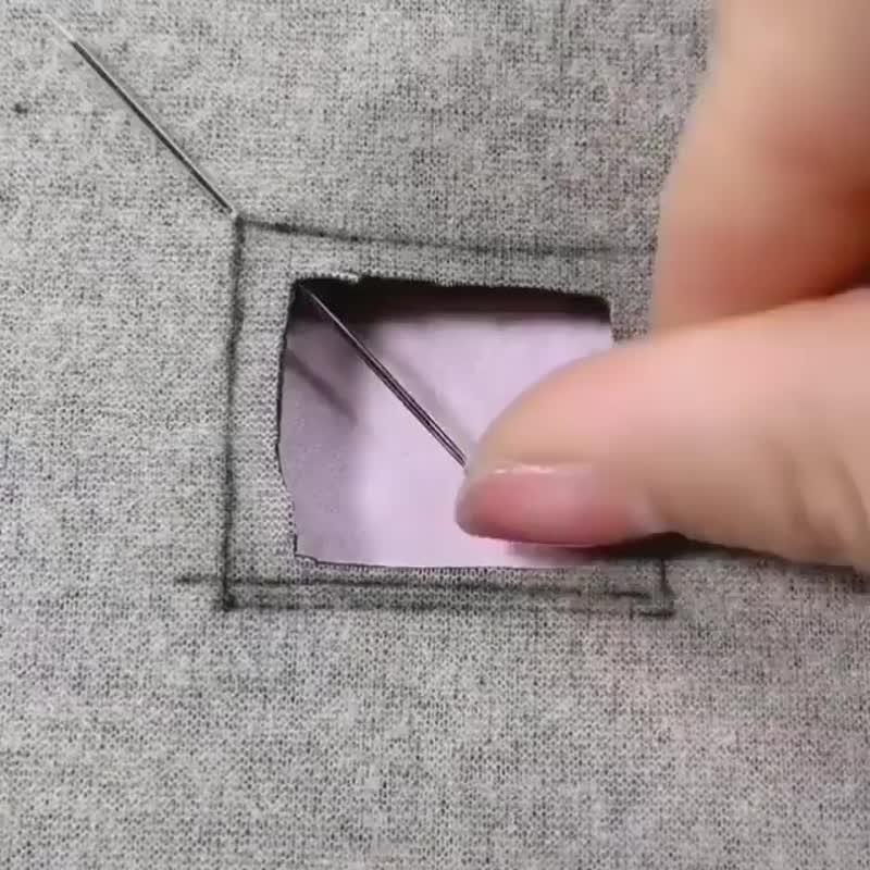 Как красиво зашить дырку