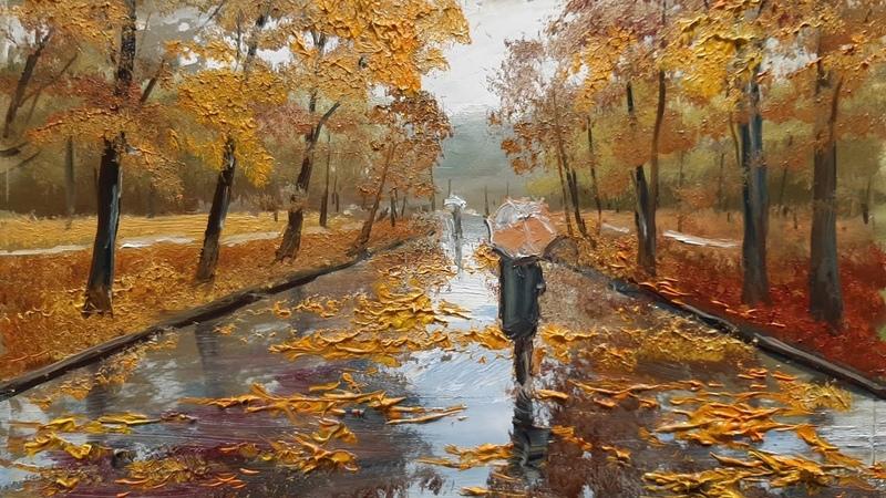 Осенний дождь Autumn rain Vugar Mamedov