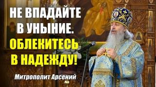 Не впадайте в уныние. Облекитесь в надежду! — проповедь митр. Арсения на Казанскую икону  г.