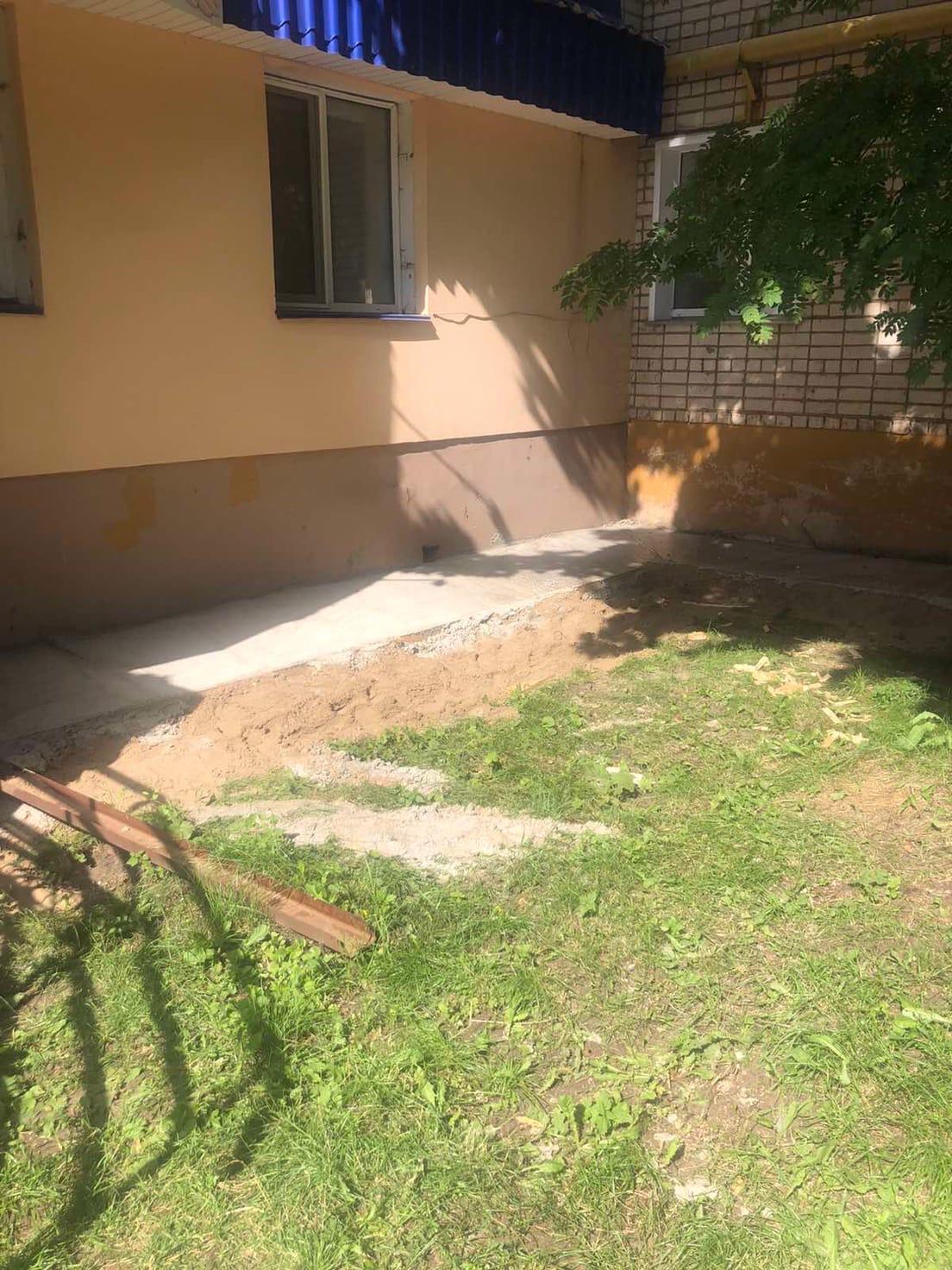 Улица Московская дом 165 ремонт отмостки