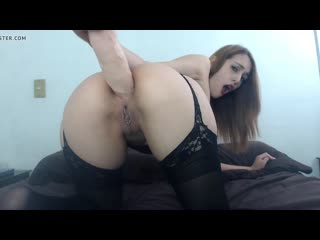 Zkyblue self fisting and dildo fuck in giant gaping hole
