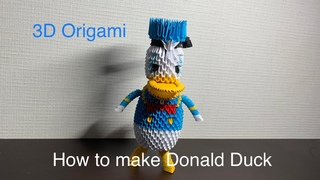 How to make 3d origami Donald Duck
