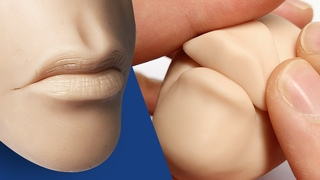 How to Sculpt a QUICK & EASY MOUTH and LIPS for Your Polymer Clay Sculptures