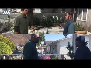 актеры озвучки из GTA 5 повторили сцену