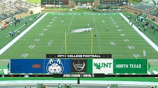 NCAAF 2020-2021, Week 01, Houston Baptist Huskies - North Texas Mean Green, EN