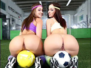 Jada Stevens, Remy LaCroix - Double The Ass On The Playing Field