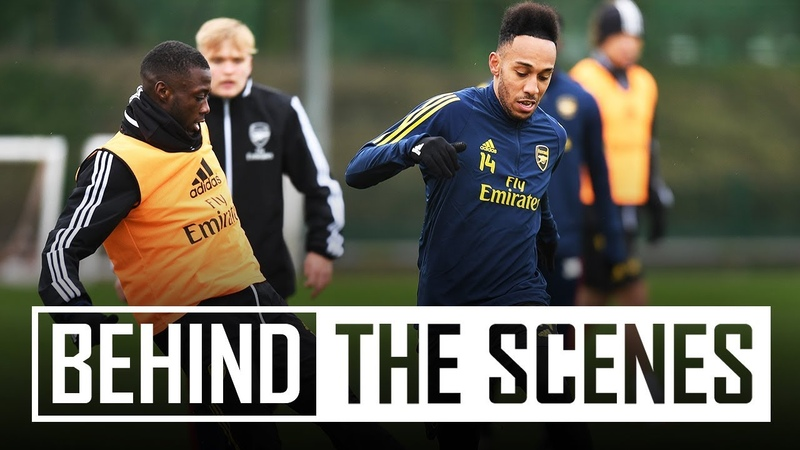 There's GOAT and then there's Aubameyang Behind the scenes at Arsenal training