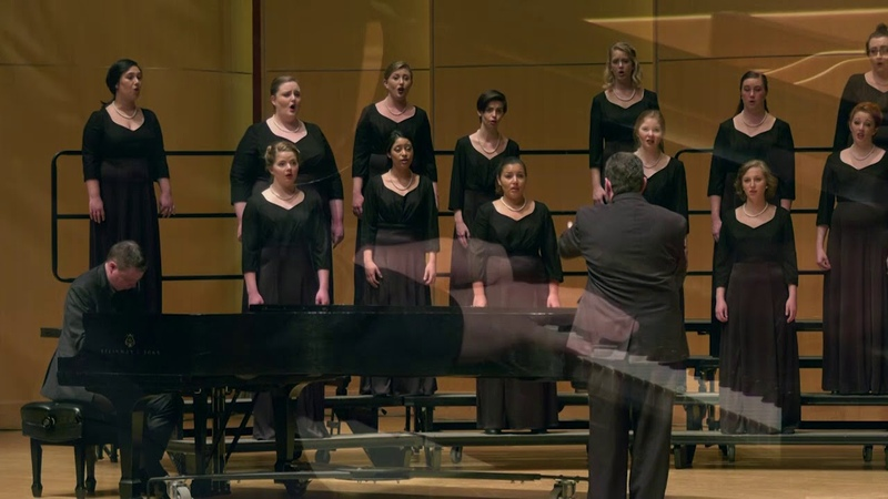 CWU Chamber Choir Gjeilo Serenity with piano improv