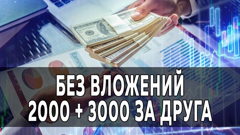 Заработок денег без вложений 2000 3000 за друга