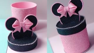 DIY 💖 ПОДАРОЧНАЯ КОРОБОЧКА Minnie Mouse из фоамирана.