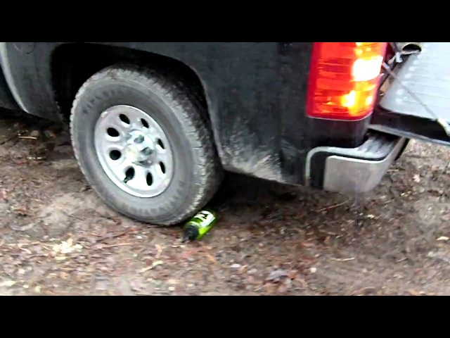 32oz Nalgene tritan bottle TEST RUN OVER by CHEVY SILVERADO