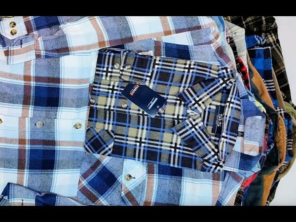 G-145. Рубашки фланелевые LX. 20091804. 17,8кг. 48ед