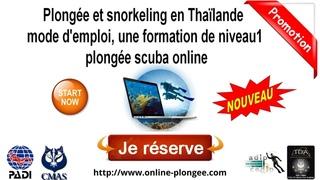 🖱Plongée et snorkeling en Thaïlande mode d'emploi, une formation de niveau1 plongée scuba #online