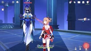 Йомия/Yomiya🔥 против гидро мага цицин💦 [Genshin Impact 1.7/2.0]