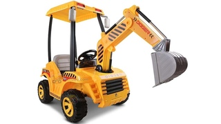 Unboxing and Assembly Electric car for kids Electric excavator digger orange with remote control
