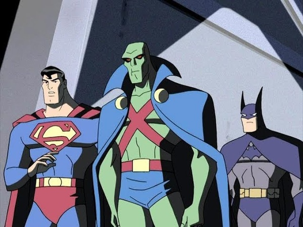 Лига справедливости Бэтмен и Супермен встречают марсианского охотника