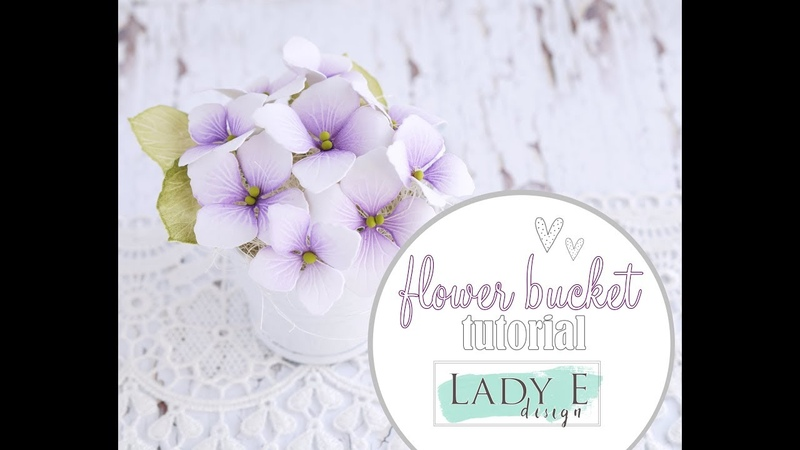How To Make Paper Flowers in a Bucket DIY Hydrangea