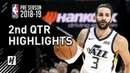 Toronto Raptors vs Utah Jazz - 2nd Qtr Highlights | October 2, 2018 | 2018 NBA Preseason