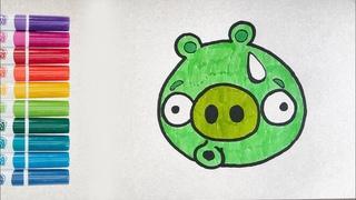 Как нарисовать Свинку. Angry Birds