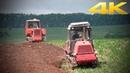 Вспашка поля гусеничными тракторами ВТ-100 и ДТ-75 - как в старые добрые времена