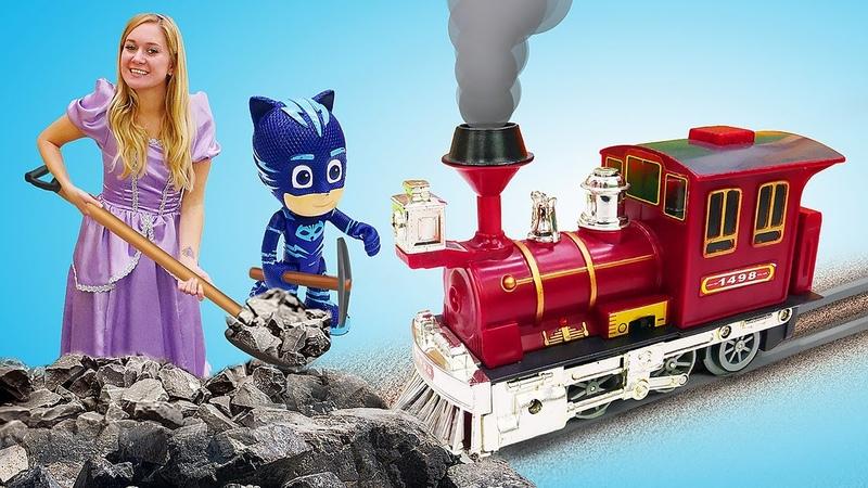 Princesa Sofia cria uma ferrovia de brinquedo Conto de fadas da Princesa Sofia para meninas
