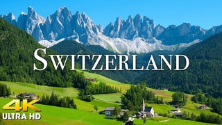 FLYING OVER SWITZERLAND (4K UHD) Amazing Beautiful Nature Scenery & Relaxing Music for Stress Relief