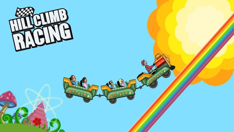 Hill Climb Racing - Kiddie Express on RAINBOW 8164m   GamePlay