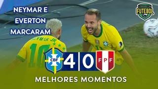 Brasil 4 x 0 Peru   Melhores Momentos   Copa América 17/06/2021