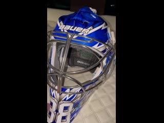 Tampa Bay Lightning Andrei Vasilevskiy's new Stanley Cup Champion Mask. WeAreGoldStar
